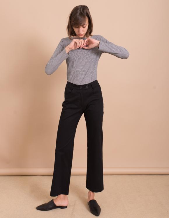 Alef Alef | אלף אלף - בגדי מעצבים | מכנסי Paul שחור
