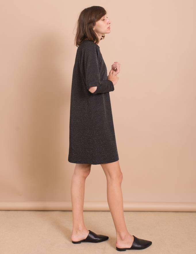 Alef Alef   אלף אלף - בגדי מעצבים   שמלת Jackie שחור כסף
