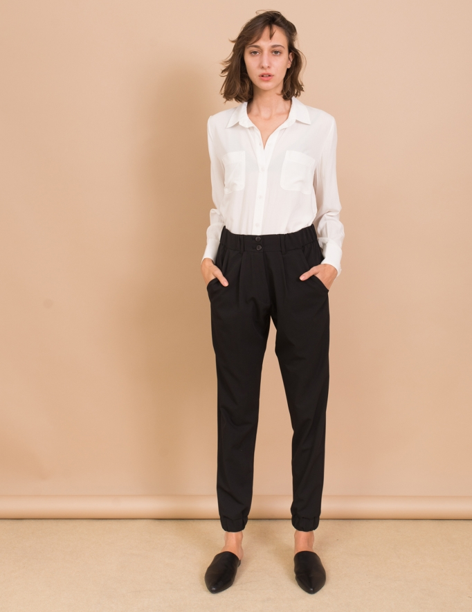 Alef Alef | אלף אלף - בגדי מעצבים | מכנסי Sony שחור