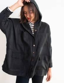 Alef Alef | אלף אלף - בגדי מעצבים | מעיל Norman שחור סוויד