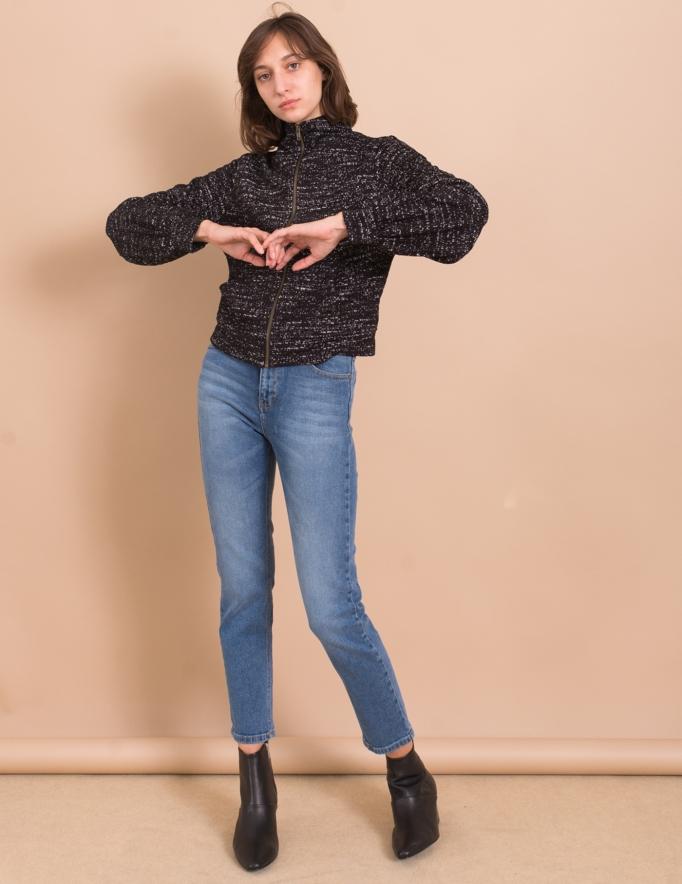 Alef Alef | אלף אלף - בגדי מעצבים | ג'קט Sofia שחור נקודות לבנות