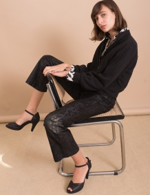 Alef Alef | אלף אלף - בגדי מעצבים | עקב פלטפורמה שחור