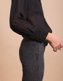 Alef Alef | אלף אלף - בגדי מעצבים | מכנסי Piet אפור מנוחש