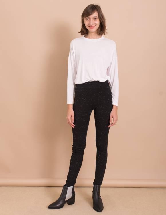 Alef Alef | אלף אלף - בגדי מעצבים | מכנסי Piet שחור נקודות לבנות