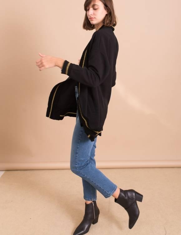 Alef Alef | אלף אלף - בגדי מעצבים | מגפי Chrissy //  Sol Sana שחור