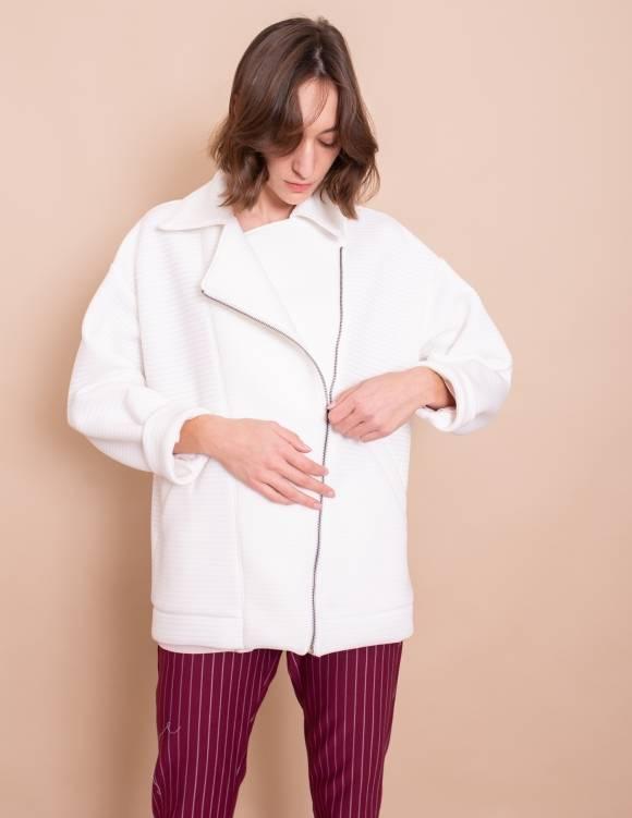 Alef Alef | אלף אלף - בגדי מעצבים | מעיל Eddie לבן