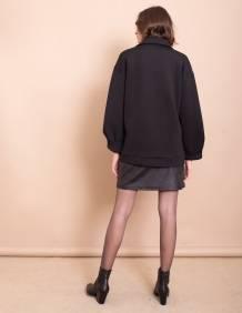 Alef Alef | אלף אלף - בגדי מעצבים | מעיל Eddie שחור ריבועים