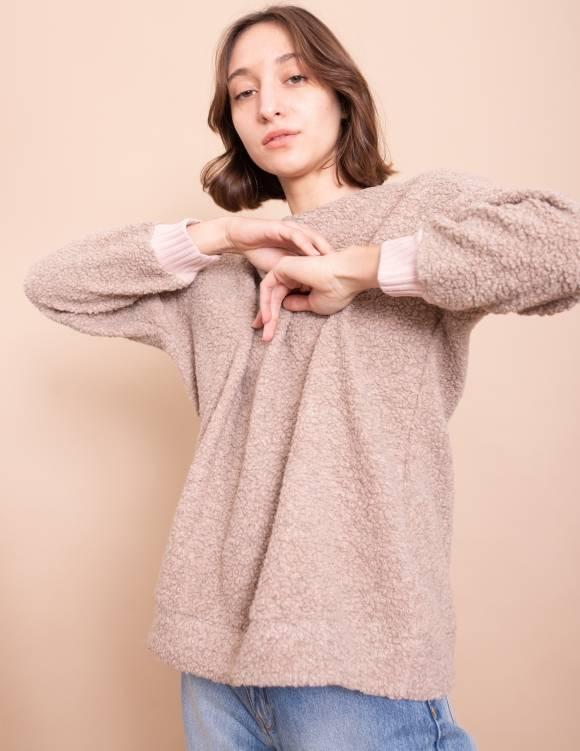 Alef Alef | אלף אלף - בגדי מעצבים | סווטשירט Michelle חאקי
