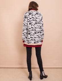 Alef Alef   אלף אלף - בגדי מעצבים   עליונית Elena שחור לבן
