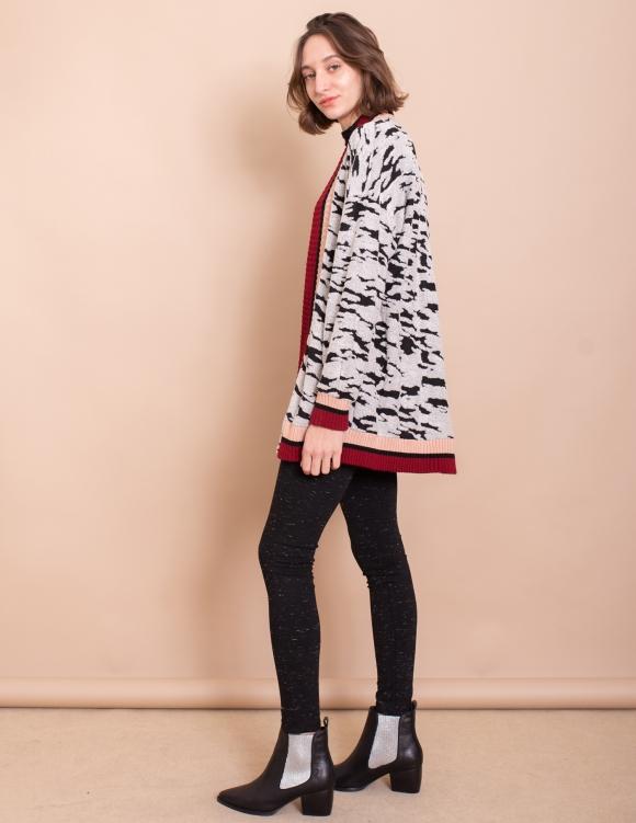 Alef Alef | אלף אלף - בגדי מעצבים | עליונית Elena שחור לבן