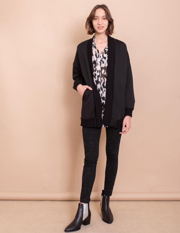 Alef Alef | אלף אלף - בגדי מעצבים | עליונית Elena שחור מעוינים