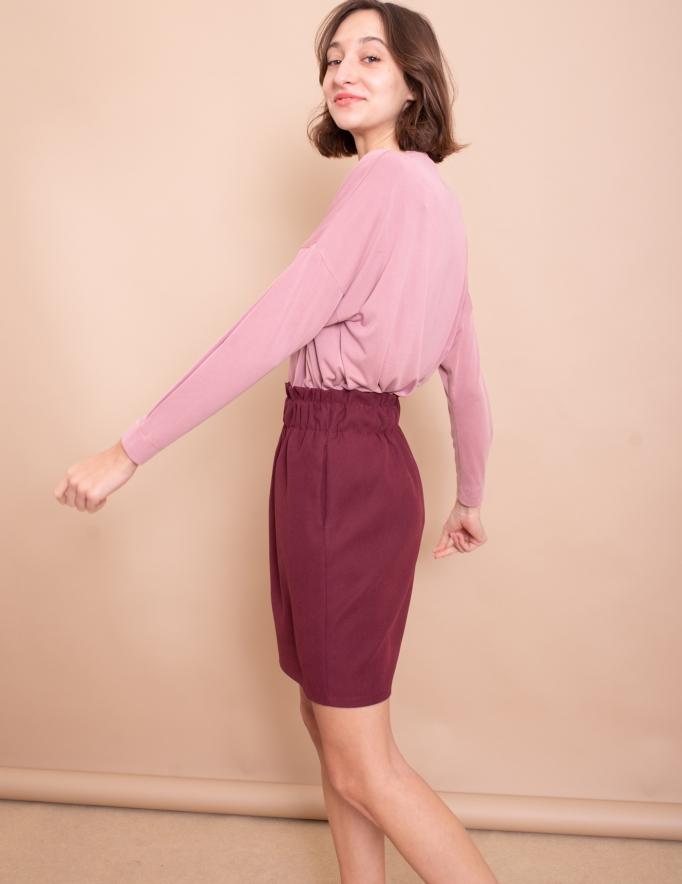 Alef Alef | אלף אלף - בגדי מעצבים | חצאית Gorgia בורדו