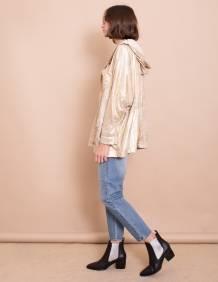Alef Alef | אלף אלף - בגדי מעצבים | מעיל Norman שמנת /זהב