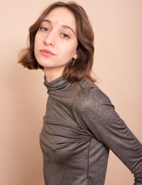 Alef Alef | אלף אלף - בגדי מעצבים | חולצת Amy שחור זהב