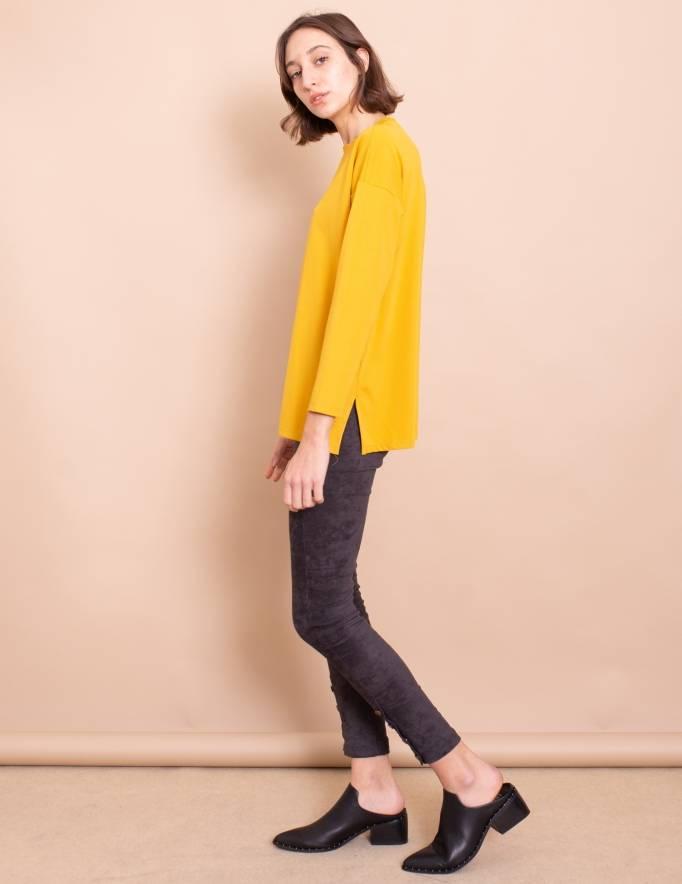 Alef Alef | אלף אלף - בגדי מעצבים | חולצת Damien חרדל