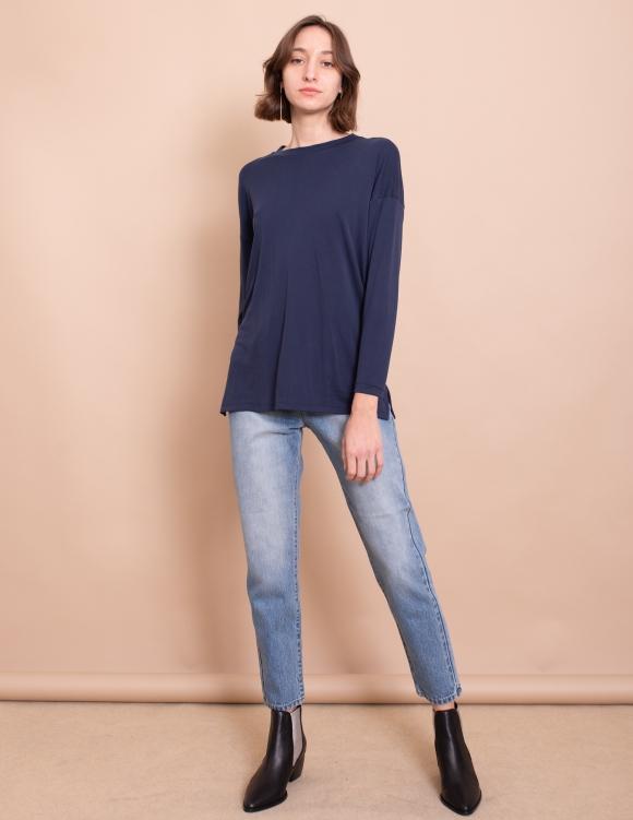 Alef Alef | אלף אלף - בגדי מעצבים | חולצת Damien נייבי