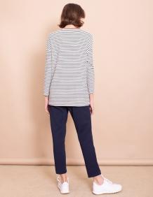 Alef Alef   אלף אלף - בגדי מעצבים   חולצת Gwen פסים חמרה
