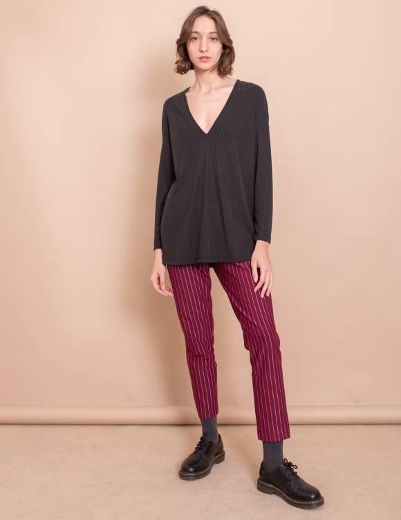 Alef Alef | אלף אלף - בגדי מעצבים | חולצת Gwen פחם ריב