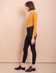 Alef Alef | אלף אלף - בגדי מעצבים | מכנסי Jackson שחור טקסטורה