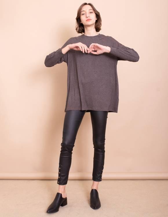 Alef Alef | אלף אלף - בגדי מעצבים | חולצת Jil אפור/חום
