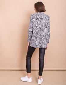 Alef Alef | אלף אלף - בגדי מעצבים | חולצת Margo שחור אפור