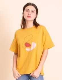 Alef Alef | אלף אלף - בגדי מעצבים | חולצת Odessa חרדל הדפס