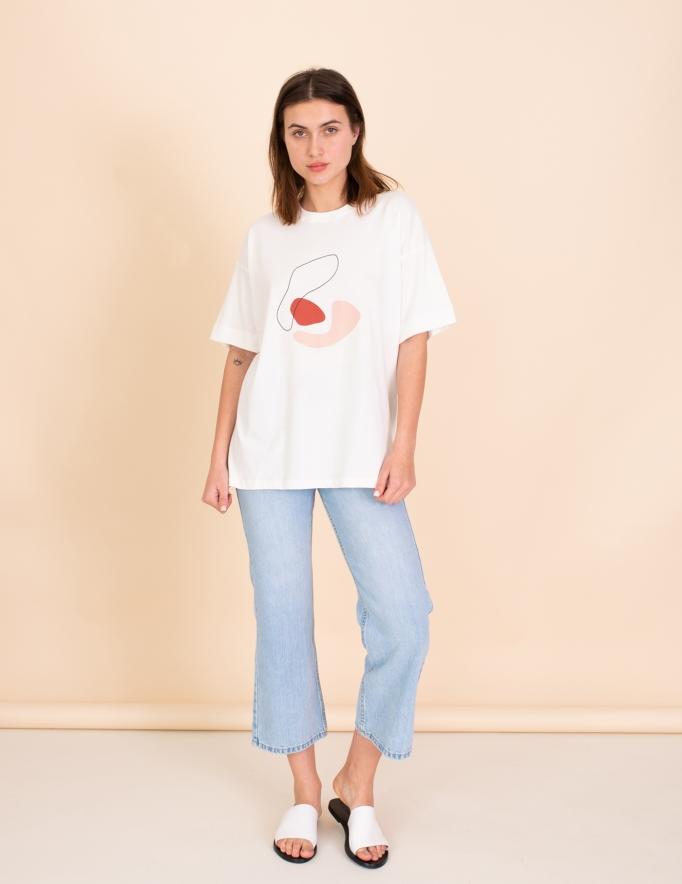 Alef Alef | אלף אלף - בגדי מעצבים | חולצת Odessa שמנת הדפס