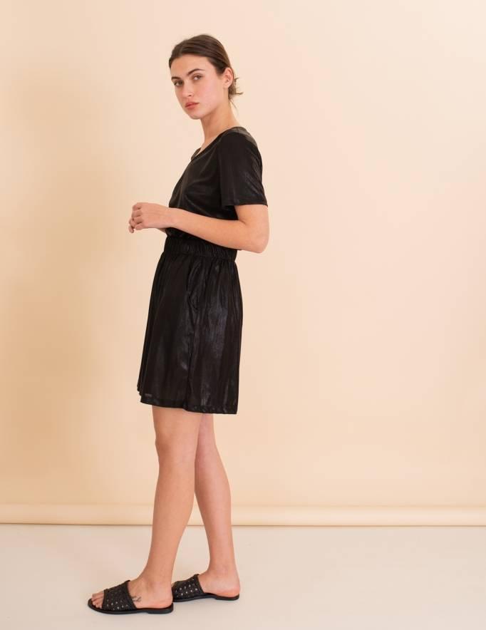 Alef Alef | אלף אלף - בגדי מעצבים | מכנסי Justin שחור מבריק