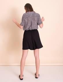 Alef Alef   אלף אלף - בגדי מעצבים   מכנסי Justin שחור