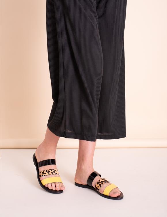 Alef Alef | אלף אלף - בגדי מעצבים | כפכפי Sol Sana | הדפס צבעוני Joaquin