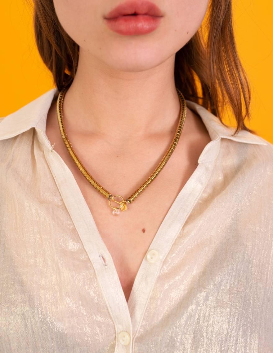 Alef Alef | אלף אלף - בגדי מעצבים | חולצת Lewis זהב מטאלי
