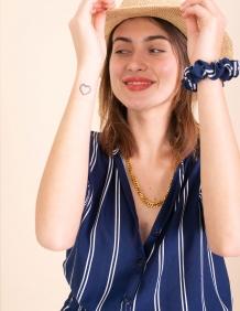 Alef Alef   אלף אלף - בגדי מעצבים   חולצת Lewis כחול פס לבן