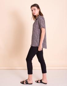 Alef Alef | אלף אלף - בגדי מעצבים | מכנסי Leon שחור