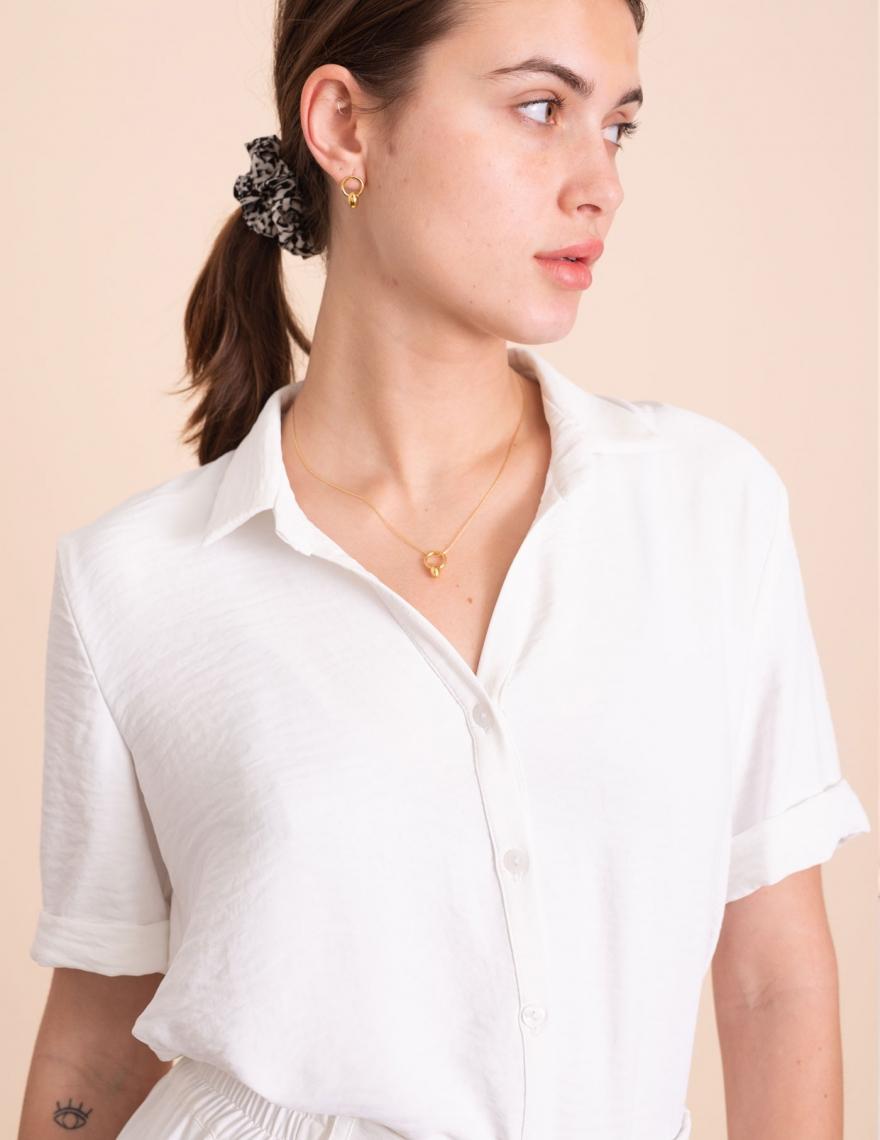 Alef Alef | אלף אלף - בגדי מעצבים | חולצת Lewis לבן