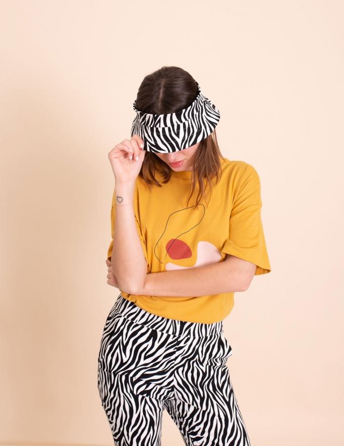 Alef Alef | אלף אלף - בגדי מעצבים | מכנסי Leon זברה לבן /שחור