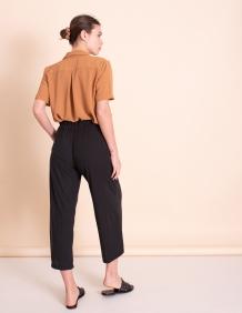 Alef Alef   אלף אלף - בגדי מעצבים   מכנסי kevin  שחור