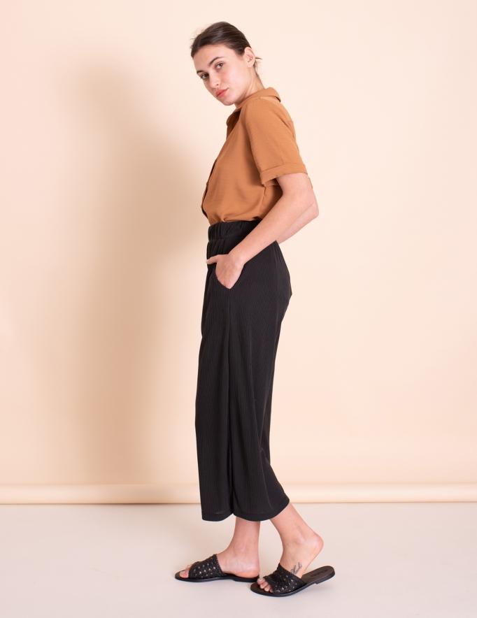 Alef Alef | אלף אלף - בגדי מעצבים | מכנסי kevin  שחור