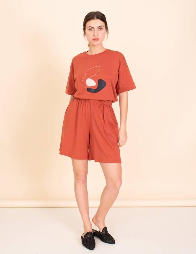 Alef Alef | אלף אלף - בגדי מעצבים | מכנסי Justin חמרה