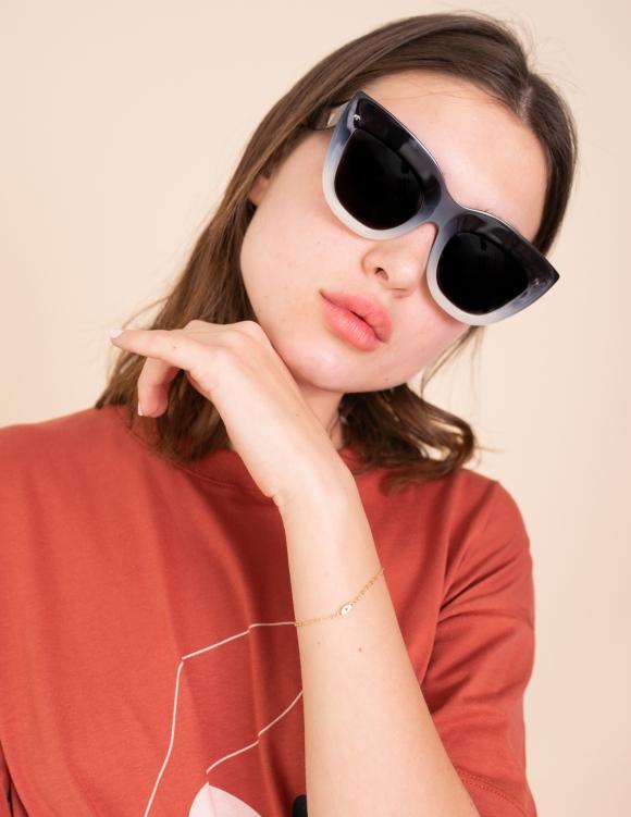 Alef Alef | אלף אלף - בגדי מעצבים | משקפי שמש Valley // Marmont שחור לבן