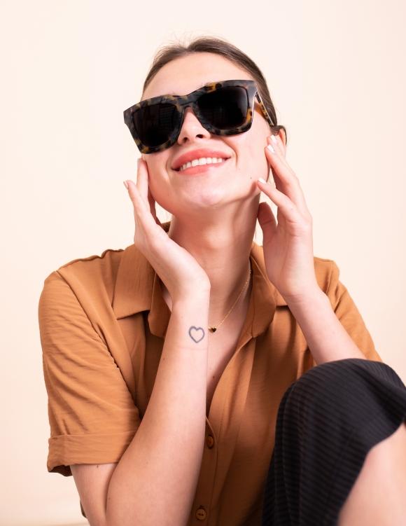Alef Alef | אלף אלף - בגדי מעצבים | משקפי שמש Valley // DB מנומר חום