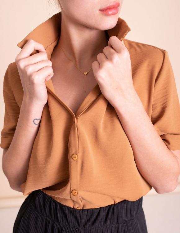 Alef Alef | אלף אלף - בגדי מעצבים | חולצת Lewis קאמל