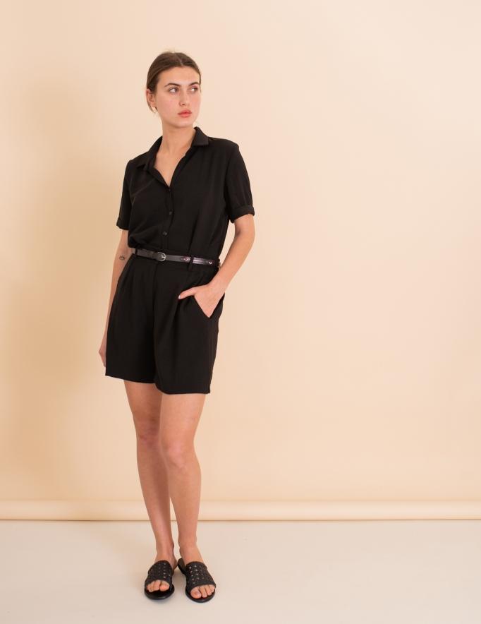 Alef Alef | אלף אלף - בגדי מעצבים | מכנסי Clark שחור