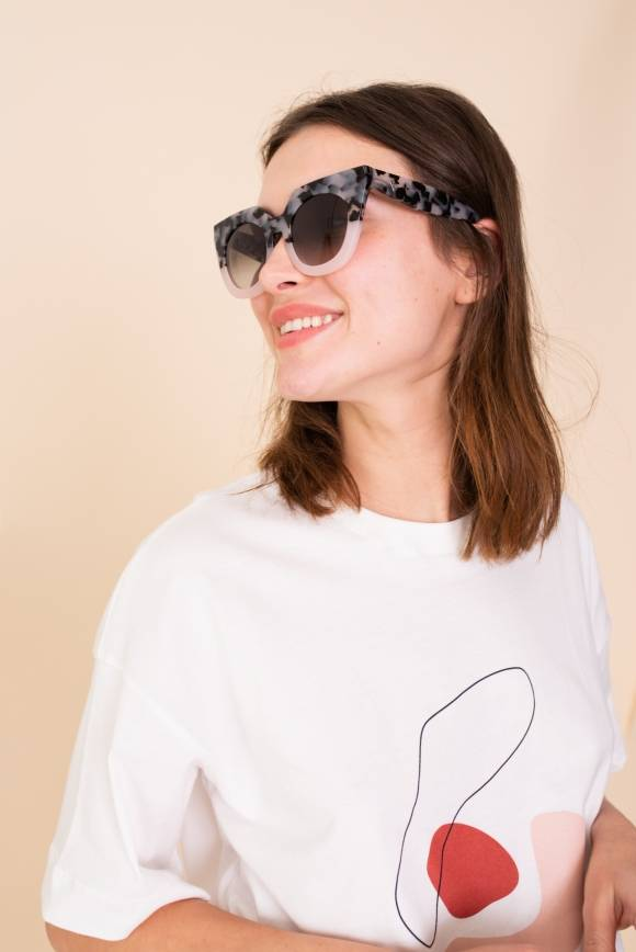 Alef Alef | אלף אלף - בגדי מעצבים | משקפי שמש SPLEEN Valley //  ורוד דפוס
