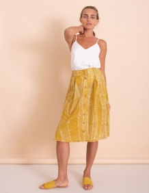Alef Alef | אלף אלף - בגדי מעצבים | חצאית Jane חרדל/ לבן