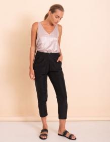 Alef Alef | אלף אלף - בגדי מעצבים | מכנסי Don שחור