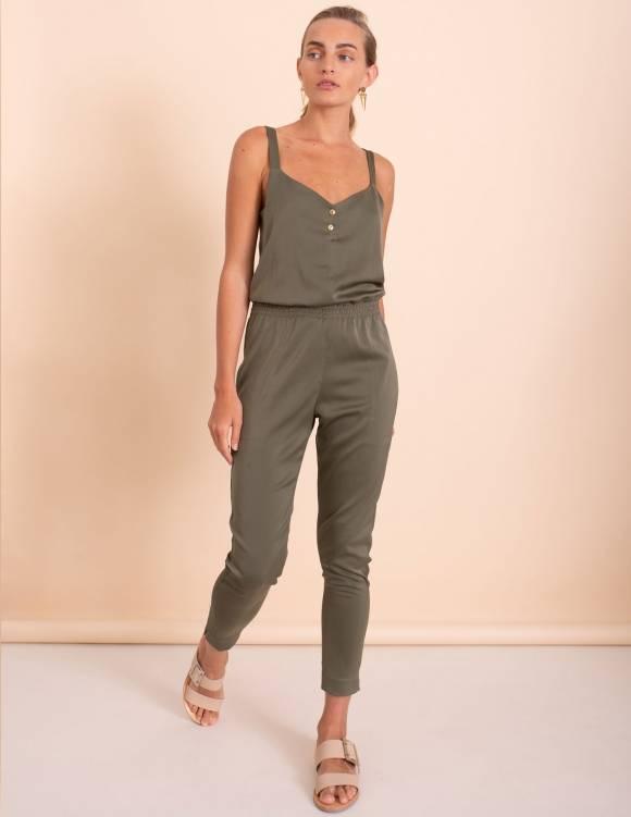 Alef Alef | אלף אלף - בגדי מעצבים | אוברול Roxette זית