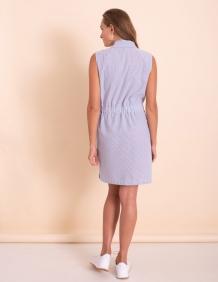 Alef Alef | אלף אלף - בגדי מעצבים | שמלת Millie פסים כחול / לבן
