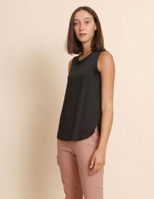 Alef Alef | אלף אלף - בגדי מעצבים | גופית Mary שחור מבריק