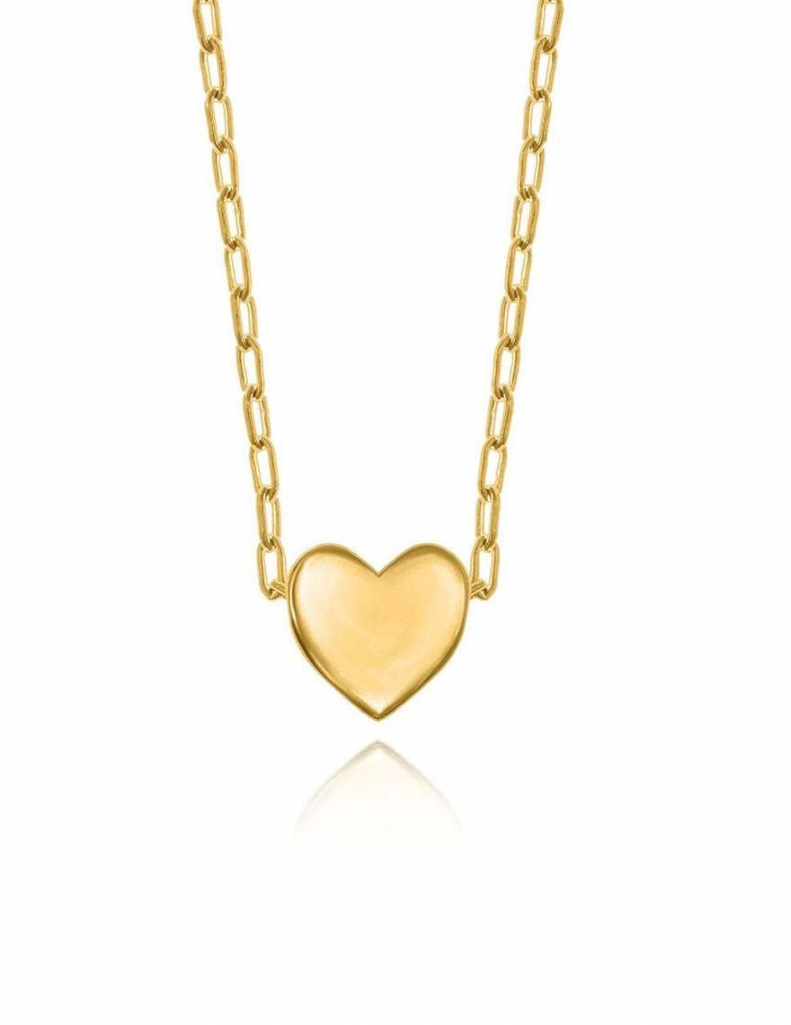 Alef Alef | אלף אלף - בגדי מעצבים | שרשרת Heart זהב // Finem