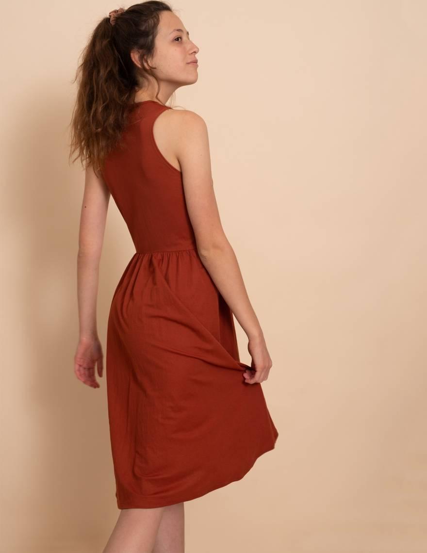 Alef Alef   אלף אלף - בגדי מעצבים   שמלת Ashley חמרה